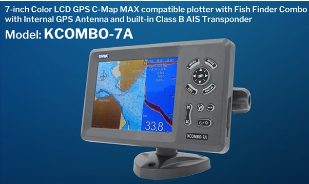 7 INCH  Marine  Chart Plotter  Fishfinder With Internal GPS Antenna With Plastic Transducer  Kcombo-7A GPS+AIS +FISH FINDER,