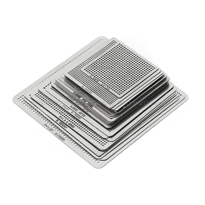 27Pcs <font><b>BGA</b></font> <font><b>Stencils</b></font> <font><b>Universal</b></font> Direct Heated <font><b>Stencils</b></font> For SMT SMD Chip Rpair Au11 Dropship image