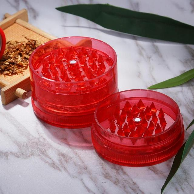 3 Layers Mini Plastic Tobacco Grinder Hand Muller Herb Weed Cigar Smoke Grinders For Tobacco Pipes & Accessories
