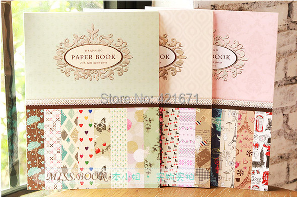Scrapbooking Paper Pack Set 16sheet Set 8 Design Paris And London
