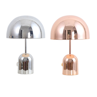 Modern minimalist metal mushroom design table lamp Nordic plating pink with knob switch LED dimmable bedroom decoration light