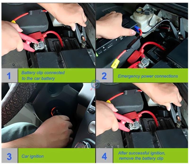 Автомобильное пусковое устройство, лучшее аварийное зарядное устройство, многофункциональное мини портативное зарядное устройство, пусковое устройство