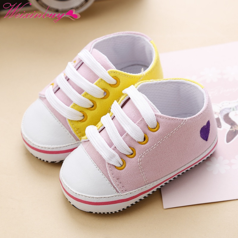 Baby Girl Boy First Walker Soft Bottom Anti-slip First Walkers Prewalker Toddler Newborn Shoes Sports Sneakers 0-18M