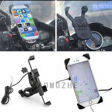 Universal Motorcycle Charger Handlebar Mount Phone Holder 12V USB Bike For Honda Yamaha Kawasaki