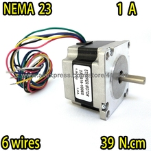Free Shipping! high torque step motor 23HS16-1006S  Nema 23 with 1.8 deg 1A 39 N.cm and unipolar 6 lead wires Super Sales!
