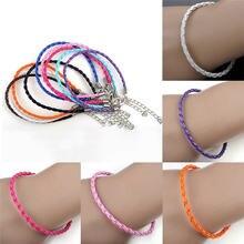 Женские плетеные браслеты ручной работы 10 шт/лот оптовая продажа