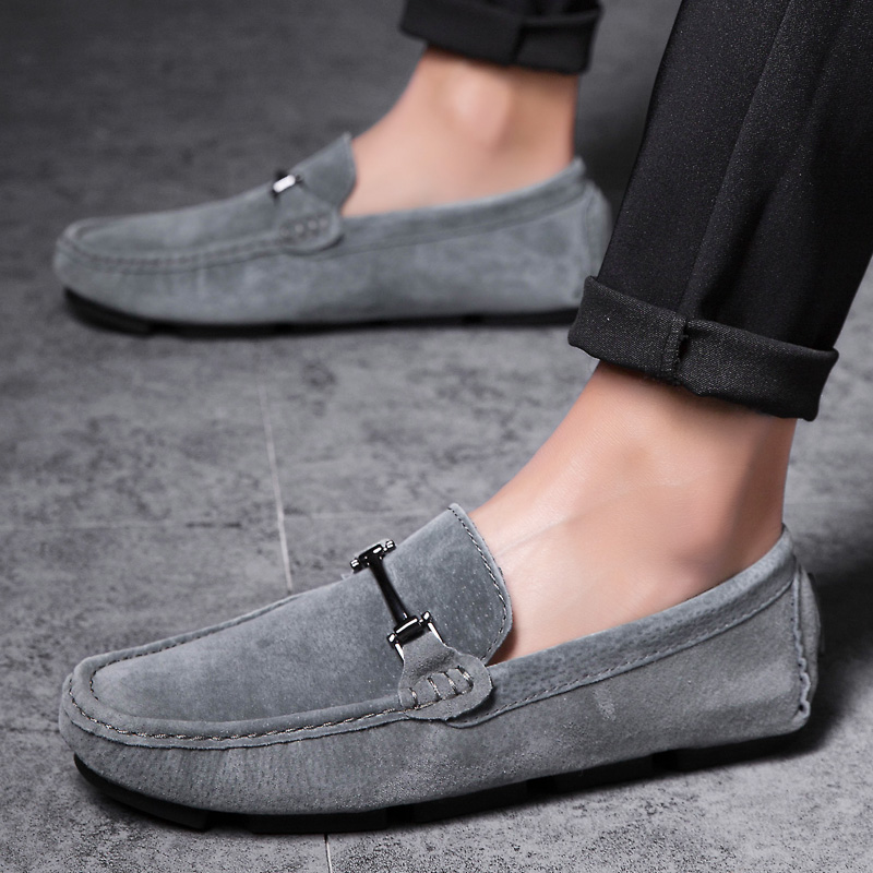 Mens Loafers 2019 Luxury Men Suede Leather Loafer Retro Man Slip On Driving  Shoes Brand Comfort Casual Male's Flat Footwear Grey|Men's Casual Shoes| -  AliExpress