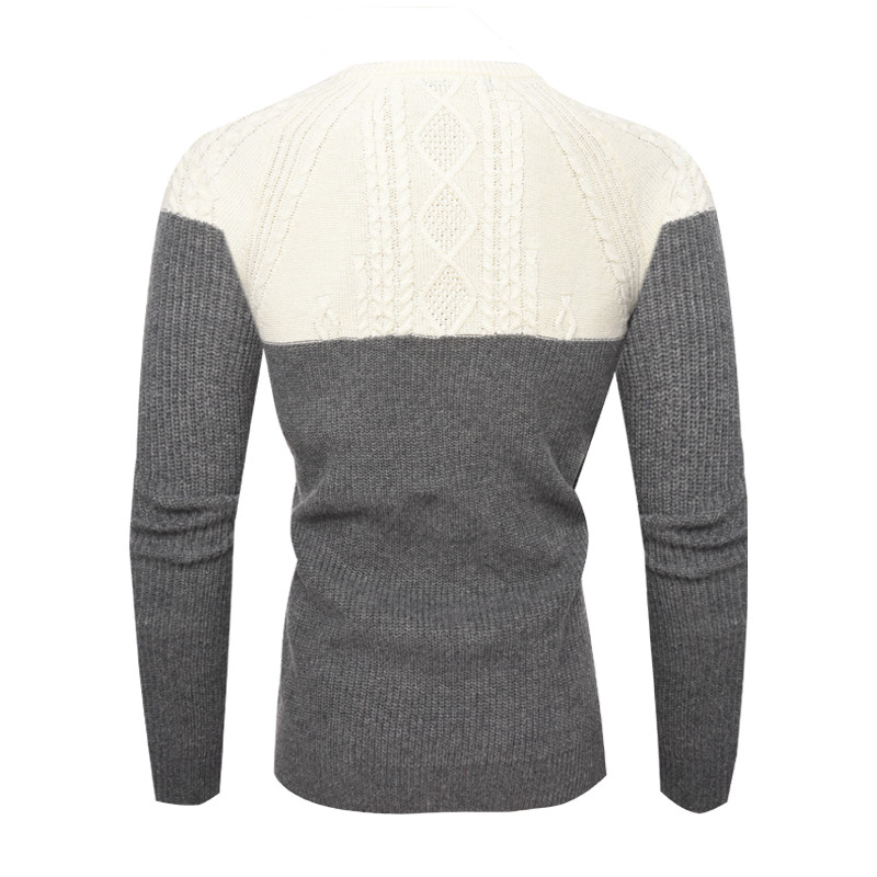 Men Winter Sweater Knitting Pullover Mens Patchwork O-neck Knitting Sweater Male Winter Clothing Casual Loose Knitted Pullovers