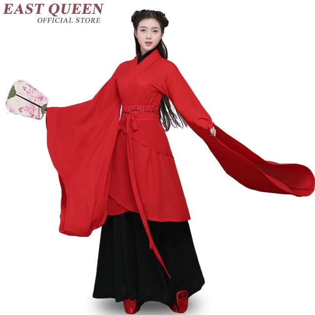 ea2a62f5b4 Chinese folk dance costume clothing hanfu ancient fan dance traditional  Chinese dance costumes Stage dance wear KK1559