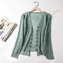 Summer Thin Lace Patchwork Knitted Kimono Cardigan Women Long Sleeve Silk Linen Cape Coat Sexy Blouses Elegant White Tops