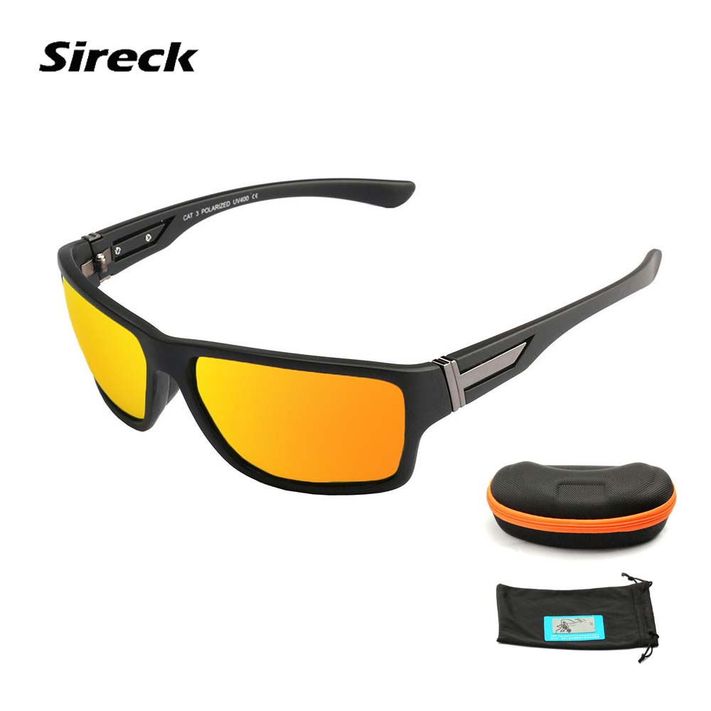 Sireck Anti-UV Cycling Glasses 2018 MTB Road Polarized Bike Eyewear Driving Fishing Bicy ...