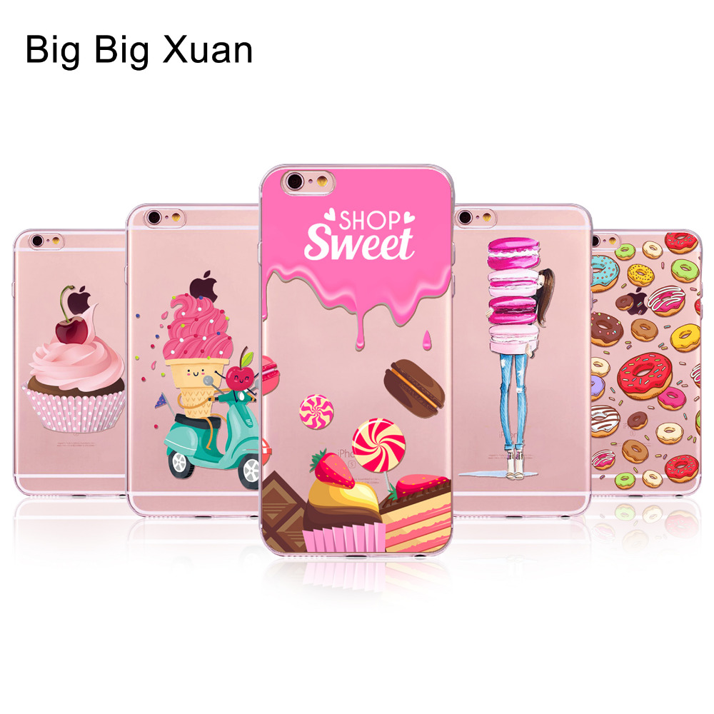 For iPhone 6 6s 5 5S SE 5C 6Plus 6sPlus 4 4S Phone Case Cover Rainbow Color Food Hamburg ...