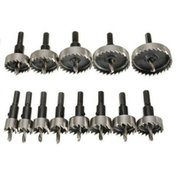 13x Hole Saw Tooth HSS Stainless Steel Drill Bit Set Cutter Tool For Metal Wood