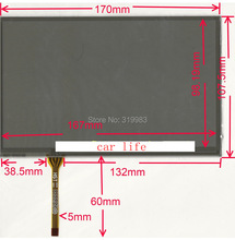 touch Screen panel Digitizer Lens panel for  LTA070B050F LTA070B510F LTA070B511F LTA070B512F LTA070B513F LTA070B054F LTA070B058F