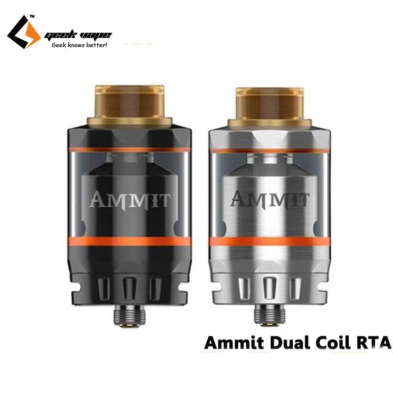 bilder für Original Geekvape Ammit Doppelspule RTA Tank 3 ml/6 ml Tank Zerstäuber Unterstützung Sowohl Dual und Single Coil E-zigaretten Atomizer