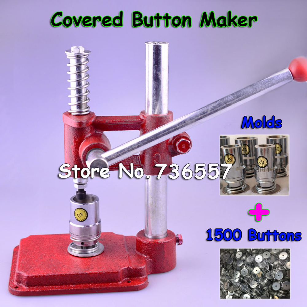 Fabric Covered Button Press Machine Handmade Fabric Self Cover Button Maker Machines Mold Tools 3 Molds 1500 pcs buttons все цены