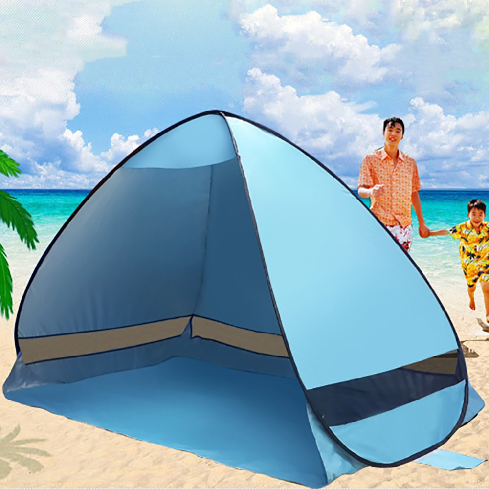 Newest Sun Shade Camping Tent hiking beach summer tent UV protection fully automatic sun shade Portable pop up beach tent sun god totem beach throw