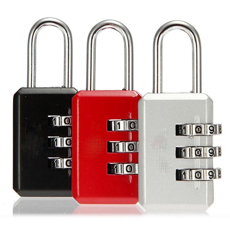 Nice 3 Digit Dial Combination Code Number Lock Padlock For Luggage Zipper Bag Backpack Handbag Suitcase Drawer Random Colors 1PC