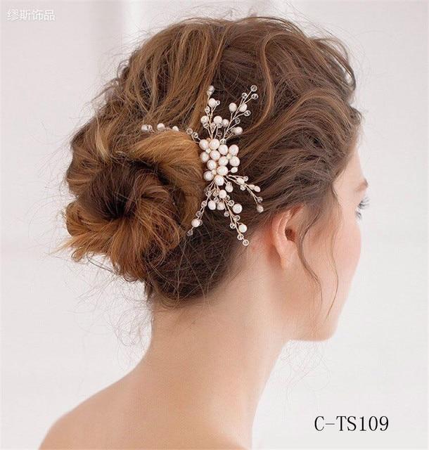Bridal Hair Accessories Wedding Veil With Comb Tiara Wedding Accessories Hair Jewelry Crystal Veu De Noiva Longo Com Renda TS109