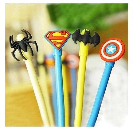 Hero alliance gel pen  superman batman captain America spiderman pen Creative students stationery wholesale