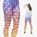2015 Nova Moda 3D Digital 3D Colorido Engraçado do Epcot Geométricas Leggings de Impressão Da Menina Das Mulheres do Sexo Feminino Leggings de Calças Skinny
