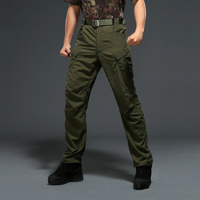 Militaire tactique anti-UV hommes pantalon rapidement sec nouvel été printemps sport camouflage pantalon extérieur Zipper armée pantalons de survêtement