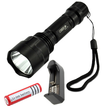 Waterproof LED Flashlight  CREE XM-L T6 Tactical 5 mode lanterna led Bicycle Lamp With 18650 Rechargeable battery and Charger