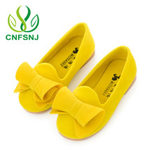 CNFSNJ 2017 new autumn Baby Girl Bow Princess pu Leather Children Mary Jane Shoe Kid Fashion Party Toddler Flat size 21-36(China)