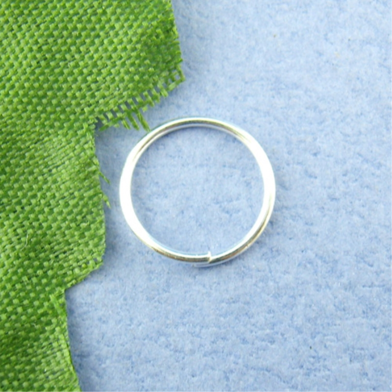 Doreen Box Lovely 600PCs Silver Color Open Jump Ring 10mm In Dia. (B00494)