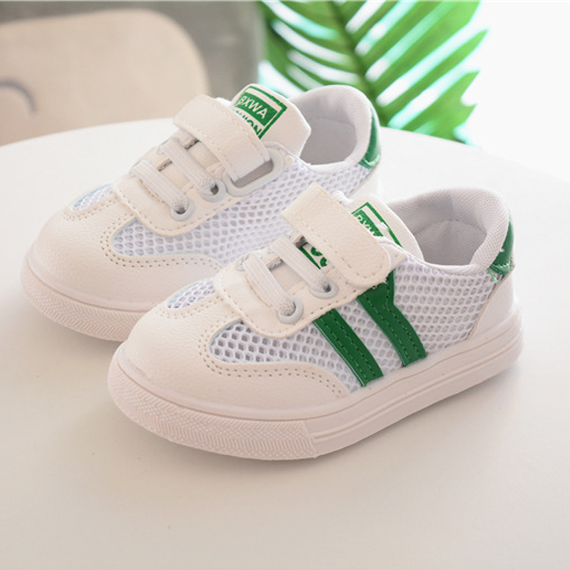 Newborn Baby First Walkers Sneakers 2018 Fashion Stripes Hollow PU Leather Casual Shoes Infant Girls Boys Soft Sole Shoes
