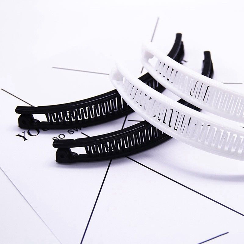 Plain Clip Hairpin  Hair  Banana Hair Comb Ponytail Holder Clip Shape Black/White Korea Liu Hai Comb Women