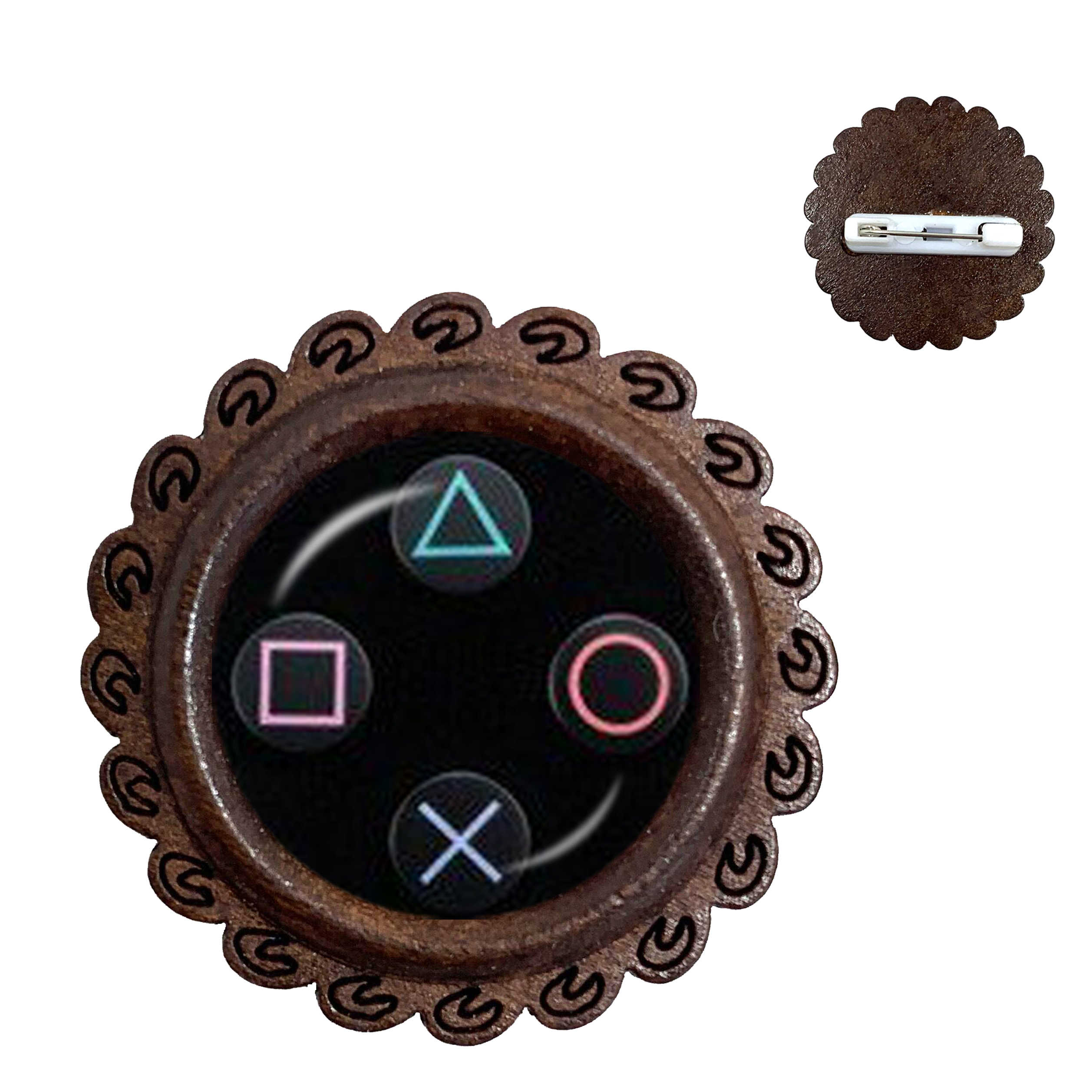 VINTAGE วิดีโอเกมเข็มกลัด Cool Men GAMING Gamer Pins ของขวัญ Retro Controller Gamepad ไม้เข็มกลัด Pins ของขวัญ
