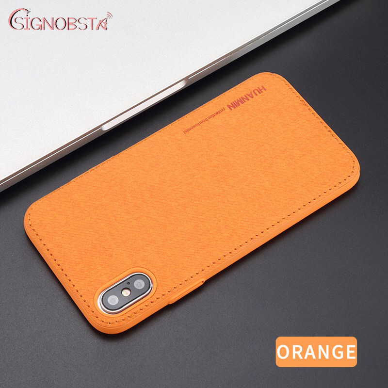 High Quality Phone Case For IPhone 6s 6 7 8 Plus Luxury Denim PC Leather Back