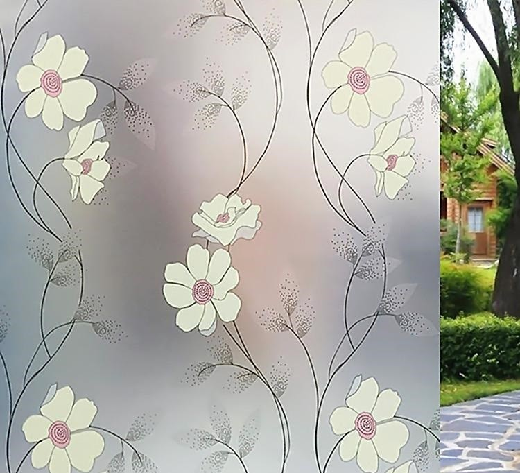 Stainded Glass Window Film colori autoadesivo decorativo satinato privacy Decalcomanie 9803 Larghezza 60cm / 75cm / 85cm * 300cm