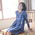 Good quality Cotton sleepwear Sleeping Dresses Woman  Nightgown Sleep Dress Women Sleepwear home clothes 0472-D