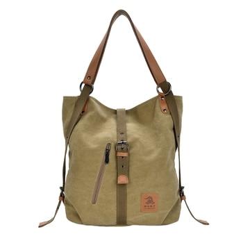 Women Fashion Casual Canvas Multifunctional Messenger Bag 1
