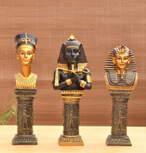 Resin crafts ornaments European statues Egyptian pharaoh living room children's room marriage room windowsill Home Decorations
