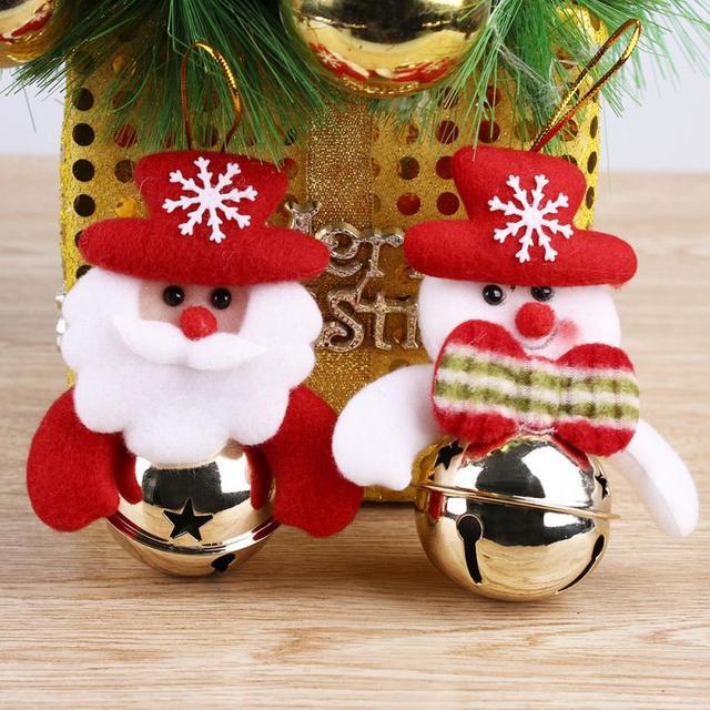 How To Decorate Jingle Bells Interesting 2Pcs Christmas Jingle Bell Pattern Round Cute Xmas Tree Decoration Design Inspiration