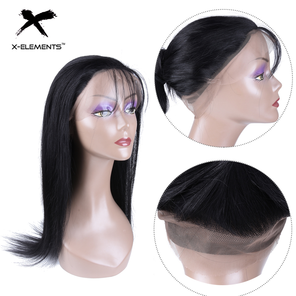 Brazilian 360 Lace Frontal Wig Straight Wig 360 Lace Frontal Non Remy Human Hair Wigs With