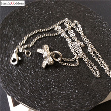 bowknot necklaces pendant stainless steel as a best gift
