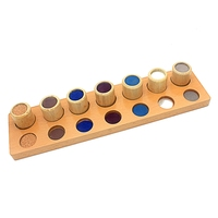 Baby Toy Montessori Wood Texture Cylinders Touch Rough & Smooth Early Childhood Education Preschool Kids Toy Brinquedos Juguetes