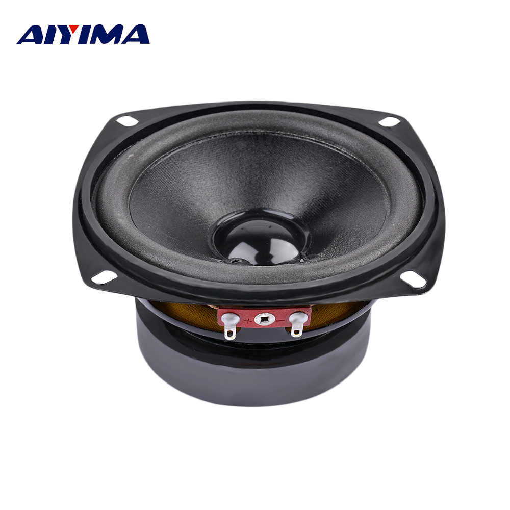 1Pcs 4Inch Portable Full Range Audio Speaker 8Ohm 50W Computer Subwoofer Speakers DIY For Home Theater