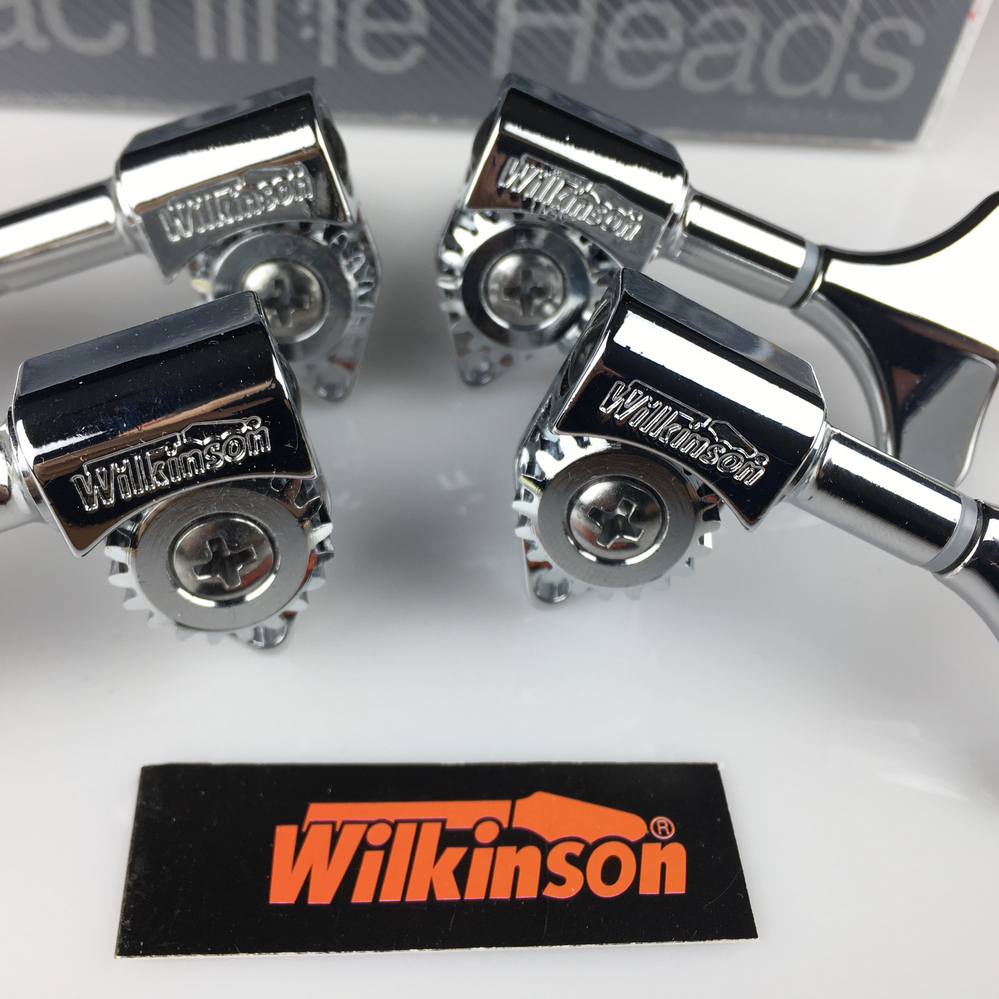 NEW wilkinson Electric Bass Guitar Machine Heads Tuners Guitar Tuning Pegs Open Gear WJB 750 Chrome Silver without packaging in Guitar Parts Accessories from Sports Entertainment