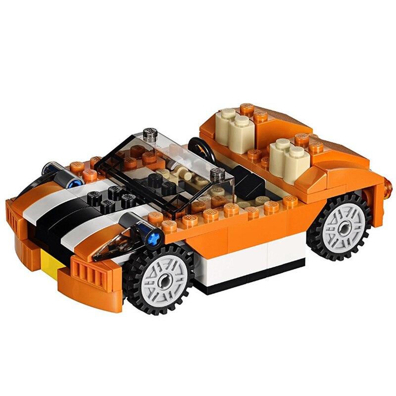DECOOL 3108 City Creator 3 en 1 Sunset Speeder Building Blocks Sets ladrillos niños modelo niños juguetes Marvel Compatible Legoings