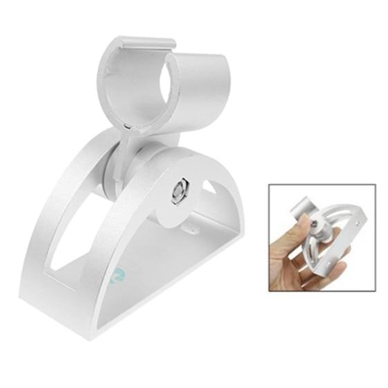 Серебряный тон Алюминиевый вращающийся держатель подставка для 23 мм Диаметр душевой головки
