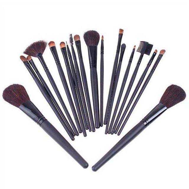 Black 18PCS Professional Makeup Brush Set, Retail, Wholesale, Free Shipping