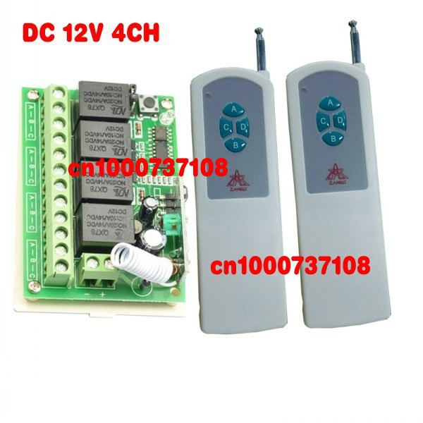 цена на 12 volt remote control switch remote control rf wireless LED rf controller wireless transmitter and the receiver