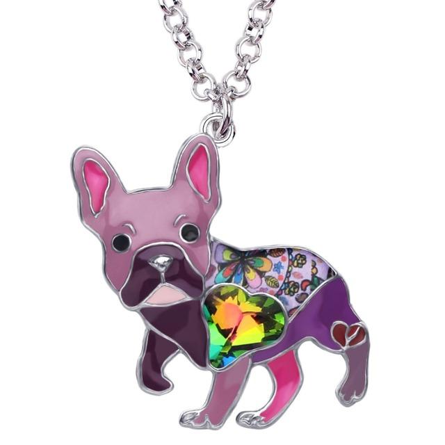 Fashion Colorful Pug Shaped Pendant