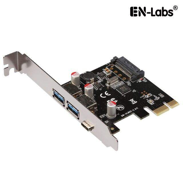 En-Phòng Thí Nghiệm USB 3.1 GEN 1 (5 Gbps) Type-C + 2 USB 3.0 Type-một Pci-E Express Card Máy Tính Để Bàn PCI Express Add On Card Adapter, Power by SATA