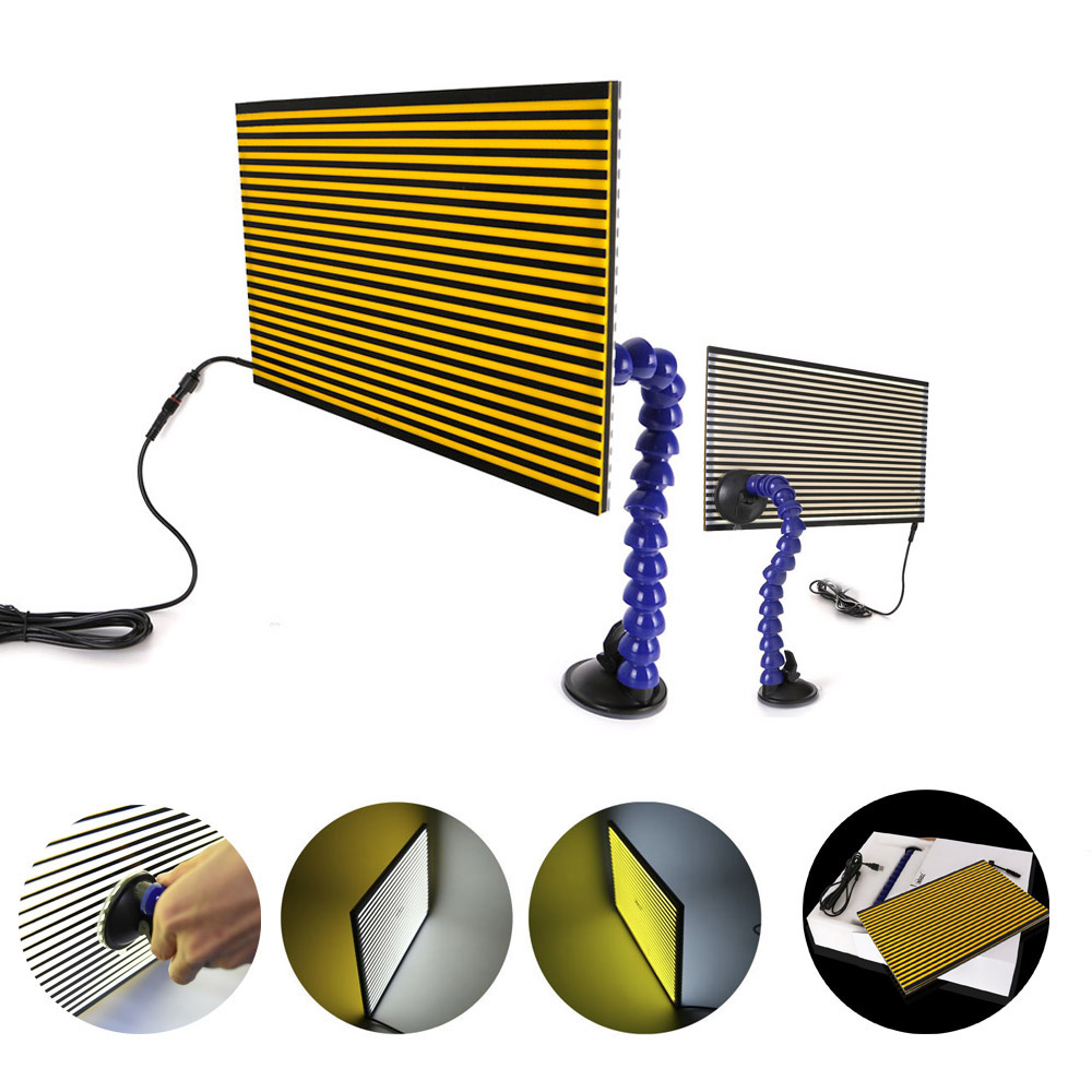 SWHGYWHZ PDR Dent Repair Tools PDR light master PDR kit lamp board PDR line Board Dent Removal Hail Damage Repair Removal Kit